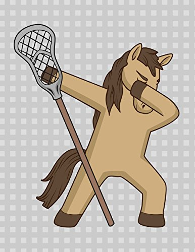 Dancing Dabbing Lacrosse Horse Notebook: Journal for School Teachers Students Offices - College Ruled, 200  Pages (8.5