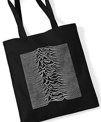 Joy Division - Unknown Pleasures / Stoffbeutel Jutebeutel Tote Bag / SCHWARZ BLACK