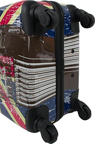 Leichtes ABS Hartschalen Kofferset Marke normani® in verschiedenen Farben wählbar! British Flag