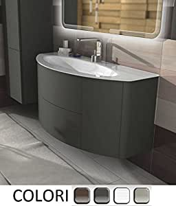 Arredo bagno sospeso 90 cm mobile lavabo in cristallo for Prezzi lavabo bagno