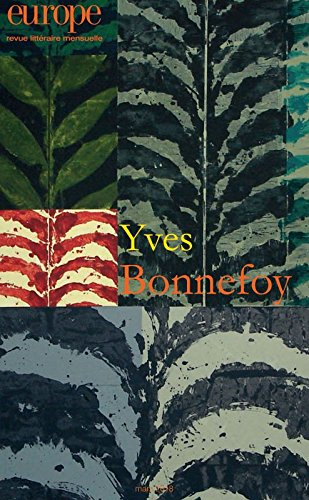 Europe (Paris. 1923) n° 1067<br /> Yves Bonnefoy
