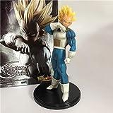 Dragon Ball Z Vegeta Warrior Awakening Fusion Súper SaiyanTroncos Padre Goku PVC Figura DBZ Colección Modelo18cm