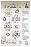 Ursus 21920099 - 3D Paper Decoration Schneeflocke, 9 cm, blau/grau