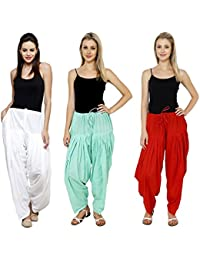 Mango People Products Combo White, Sky Blue, & Red Of 3 Colours Womens & Girls Solid Cotton Mix Best Indian Ethnic...