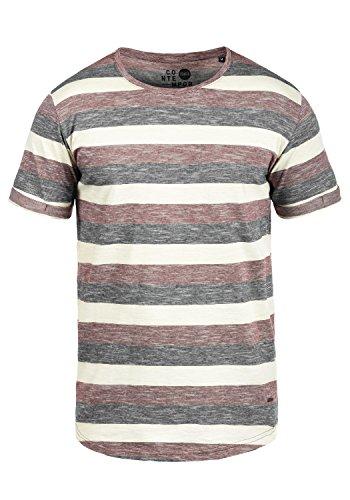 !Solid Thicco Herren T-Shirt Kurzarm Shirt Rundhalsausschnitt Aus 100% Baumwolle Wine Red (0985)