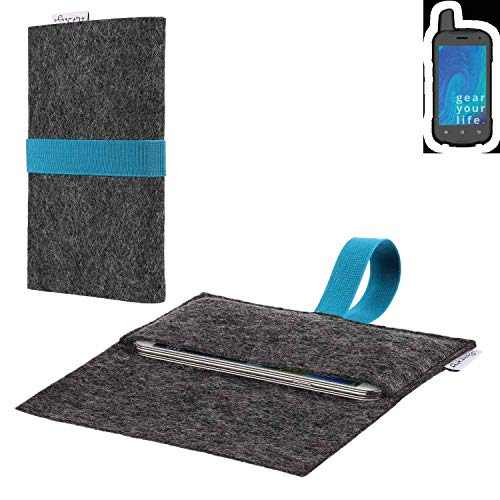 flat.design vegane Handy Hülle Aveiro für Ruggear RG720 passgenaue Filz Tasche Case Sleeve Made in Germany