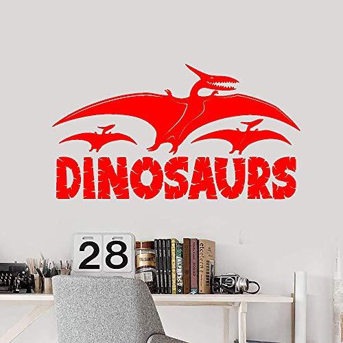 jiushizq Dinosaurier Logo Vinyl Wandtattoo Wohnkultur Kinderzimmer Kunstwand Tapete Wall Stic 1 43x79 cm