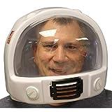 MyPartyShirt Casco de astronauta de plástico, NASA, Estados Unidos, disfraz adulto, Interstellar, Gravity