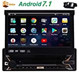 EINCAR Android 7.1 OS 7 Pollici autoradio 4 Core GPS Navi Bluetooth WiFi AM/FM RDS Radio Lettore Dvd HD 1080P Video Touch Screen Capacitivo Libero Telecamera per la retromarcia SWC Telecomando SPE