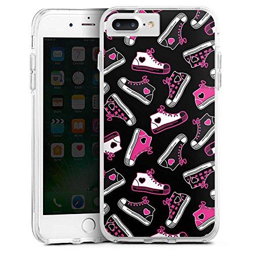 Apple iPhone 8 Plus Bumper Hülle Bumper Case Schutzhülle Sneaker 90er Turnschuhe
