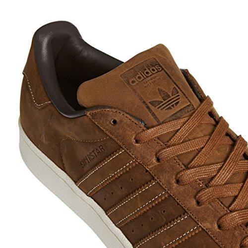 adidas Superstar Foundation Herren Sneakers Braun (Dust Rust/Silber)