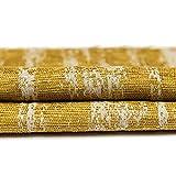 McAlister Textiles Essentials Kollektion | Strukturierter Chenille Stoff in Senfgelb | Per Meter | Deko Textil Material für Vorhänge, Bezüge, Decken, Polster