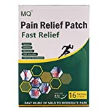 MQ - Cerotti per alleviare il dolore di schiena, muscoli e giunture, misure 7 x 10cm, confezione da 16 cerotti
