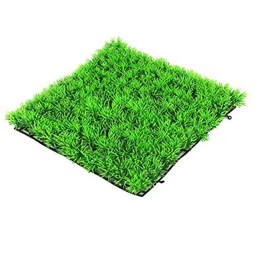 RENNICOCO Grünes Quadrat Kunstrasen-Rasen-Aquarium-Rasen-Gefälschte Gras-Dekorations-Matte