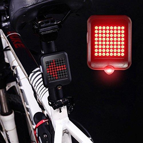 QUCHER Fahrrad Rücklicht, Automatische Induktions Fahrrad Blinkerleuchte Rücklichter , Intelligent LED Fahrradbeleuchtung Wasserdicht USB Wiederaufladbare Sport Hinterrad Fahrradlicht