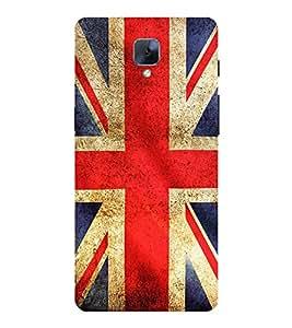 PrintVisa Designer Back Case Cover for OnePlus 3T (Artistic British Flag )