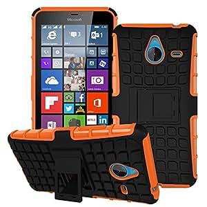 Etui ProteKtoR Microsoft Lumia 640 XL Total orange avec stand - Housse coque de protection Silicone avec stand Nokia 640 XL - Prix découverte accessoires pochette XEPTIO case