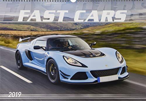Fast Cars 2019 - Der Sportwagenkalender - Bildkalender quer (49 x 34) - Autokalender - Technikkalender