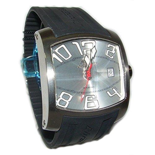 Chronotech–Reloj para hombre solo tiempo Chronotech de acero y silicona.