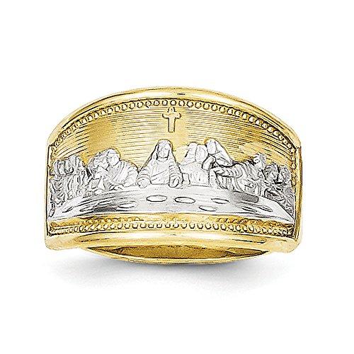 Oro 10K bicolore unisex ultima cena anello