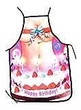 Tinas Collection Kochschürze Frauen, sexy Schürzen für Damen, lustige Grillschürzen für Den Polterabend (Happy Birthday)