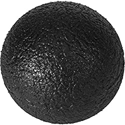 GORILLA SPORTS® Faszienball Black 10,2 cm mit Profil-Oberfläche - Selbstmassage-Ball für die Faszien