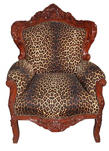 Barock Sessel King Leopard/Braun 85 x 85 x H. 120 cm