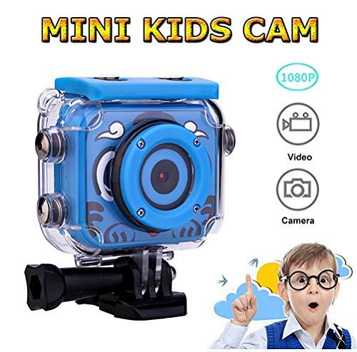 SUNEY Kinderkamera, Kinder Action Kamera mit Unterwasser-Gehäuse,Sport Kamera Camcorder DV, für Geburtstag Urlaub