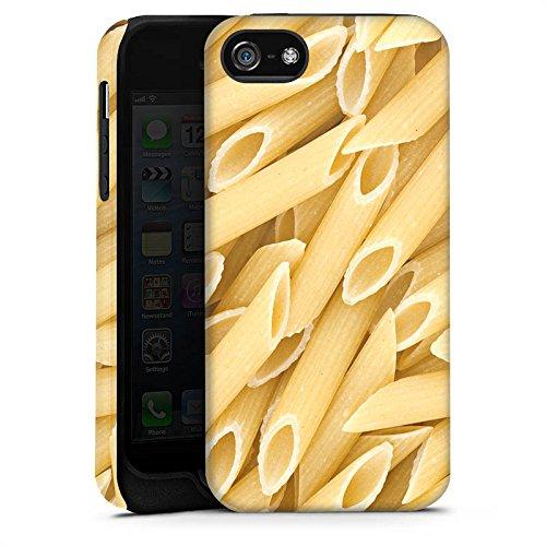 Apple iPhone X Silikon Hülle Case Schutzhülle Nudeln Penne Food Tough Case matt