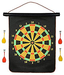 NPRC Foldable Double Faced Portable and Non Pointed Magnetic Darts Game with Strong and Powerful Magnets, 12-inch