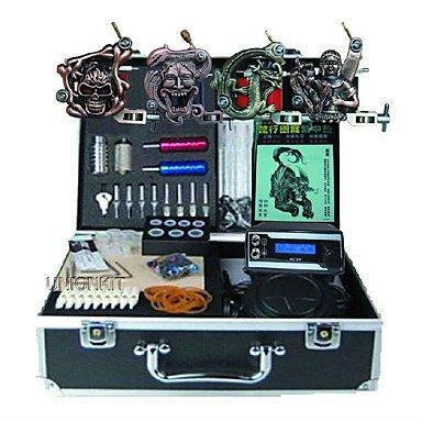 Basekey Tätowiermaschine Professionelles Tattoo Kit - 4 Pcs Tattoo-Maschinen, Professionell LED-Stromversorgung Aufbewahrungshülle