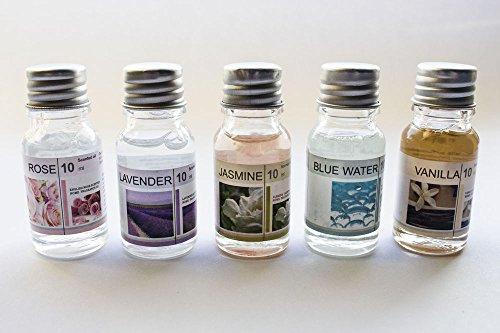 lot-5-huile-parfume-10ml-vanille-lavande-jasmin-rose-bluewater-detente-livraison-gratuite