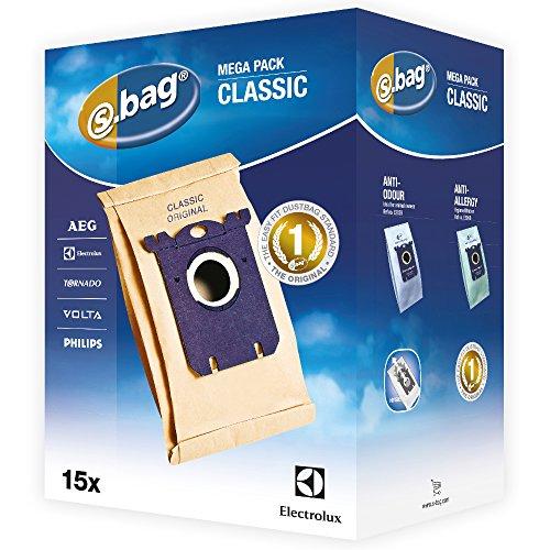 Electrolux E200M Accessoires Aspirateur S-Bag Classic 15 Sacs Méga Pack