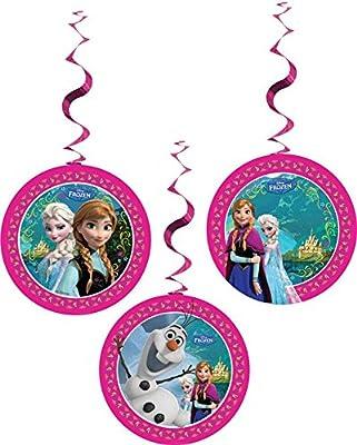 Disney Globos de Frozen, 28 cm, Color Rosa, Azul y Blanco por Disney