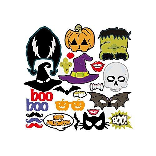 tern lustig Kürbis / Bart / rote Lippen / Gläser / Hut Foto Requisiten 24 PCS (Gute Halloween-pc-spiele)