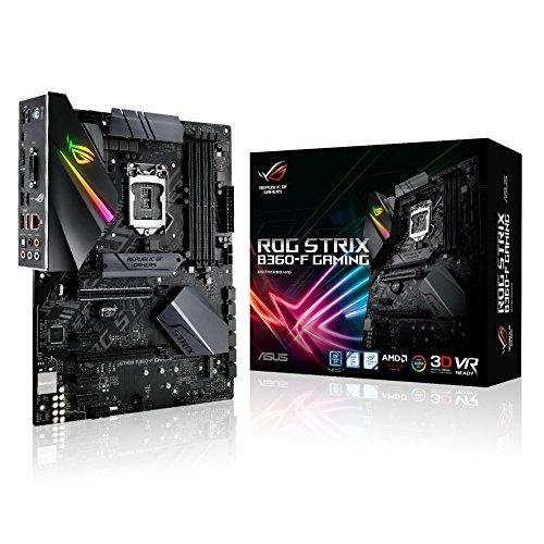 Asus Rog Strix B360-F Gaming Mainboard Sockel 1151 (ATX, Intel B360, DDR4 Speicher, duales M.2, integrierter M.2-Kühler, 6Gbit/s SATA, USB 3.1 Gen 2, Aura Sync) (Asus I5 Motherboard)