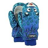 Barts Nylon Mitts Kinder Ski Handschuhe Winterhandschuhe Fäustlinge vers. Farben, Größe:4 (6-8 Jahre);Farbe:Leoprad Blue