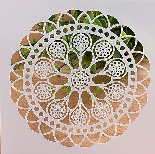 01 Rosette (Boutique d'isacrea Schablone aus Kunststoff, 13 x 13 cm, Rosette (01))