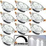 Hengda® 10 pcs 5W LED Einbauleuchte Dimmbar Innenbeleuchtung Deckenleuchten für