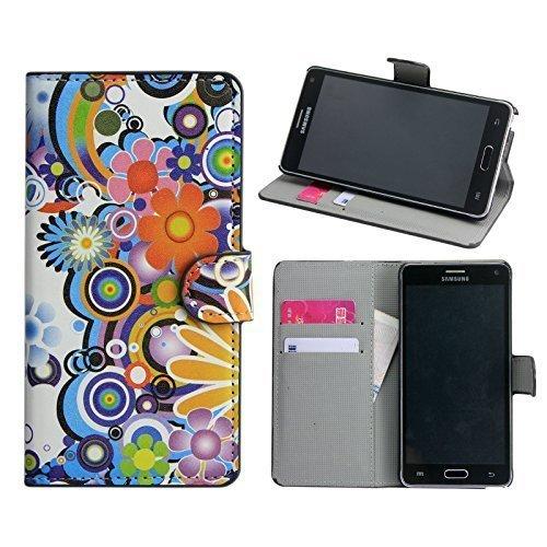 thematys Samsung Galaxy Note 4 Kunst Leder Color Mix Stand Design Schutz Handy Hülle Case Tasche Etui Smartphone Bumper
