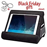 shewt Multi-Angle iPad Tablet Stand Pillow Holder - Universal Phone and Tablet Stands and Holders Can Be Used on Bed, Floor, Desk, Lap, Sofa, Couch - Black Color