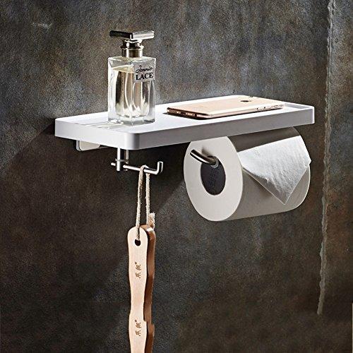Lufterfrischer Wc-papier-halter (TY&WJ Kreativ Gewebe Toilettenpapierhalter Wandhalterung Edelstahl Seidenpapier roll Dispenser Handy-halter Badezimmer-A 30x13cm(12x5inch))