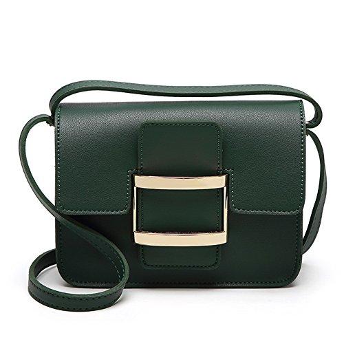 VogueZone009 Donna Luccichio cerniere Moda Viaggio Borse di tela, Verde