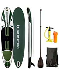 SSV-AKTION ! SKINFOX TURTLE SUP-Board ALU-SET Paddelboard SUP 335x78x15 Aqua Marina DOUBLE-LAYER Board (1 Erw.+1Kind)