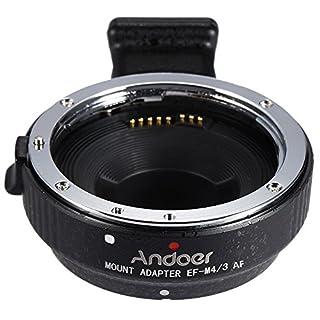 Andoer EF-MFT Autofokus -Objektiv Elektronische Mount Adapter Ring für Canon EOS EF / EF-S-Objektiv M4 / 3 Kamera wie zum Beispiel für Olympus Panasonic M4 / 3 Kamera