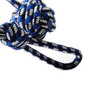 Boule de Noeud Corde - BADALINK Knot Coton Corde Jouet Formation Remorqueur 50cm