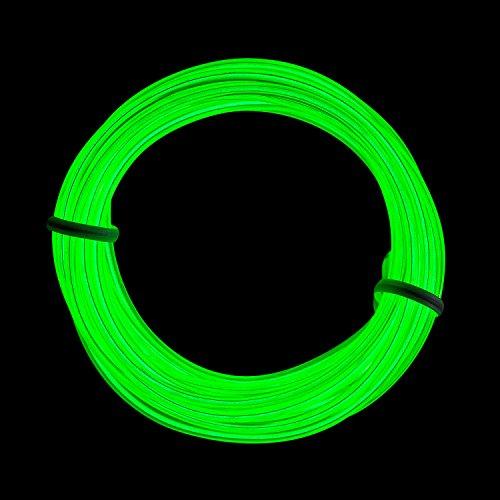 Flexibel 3M 9 FT Neon Beleuchtung Lichtschlauch Leuchtschnur EL Kabel Wire mit 3 Modis für Disco Party Kinder Halloween Kostüm Kleidung Weihnachtsfeiern(Grün) (Zu Zweit Kostüme Halloween)