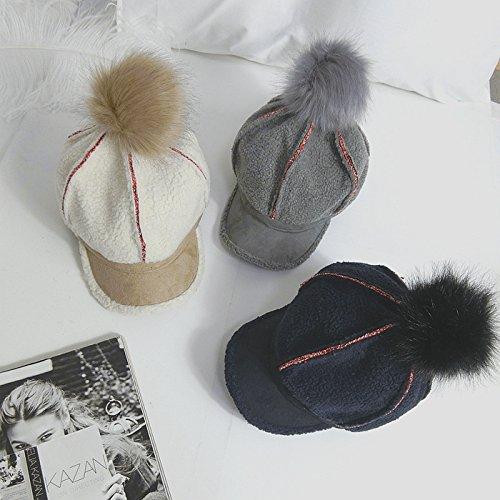 L'autunno inverno Inghilterra retrò lana di agnello il velluto Berretto da baseball lordo berretti a sfera spessa pittore caldo angolo 8 hat serie L (58-60cm) , la sua scheda - Baseball Angolo