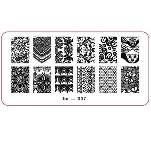 Vovotrade Nail Art Stamp image DIY Stamping Plaques Modèle Manucure(E)