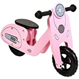 CHILDRENS KIDS GIRLS WOODEN PINK VESPA BALANCE TRAINING FIRST BIKE